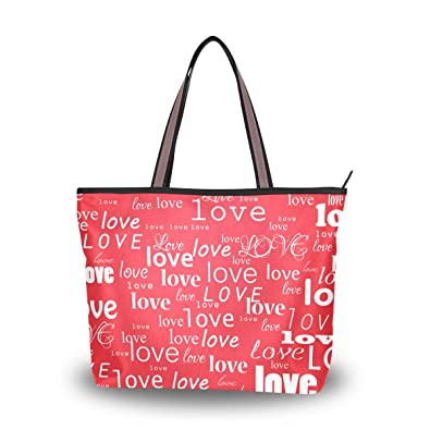 32dc319db2b9 Amazon.com  Top Handle Tote Bag Valentine s Day Love Shoulder Bag ...