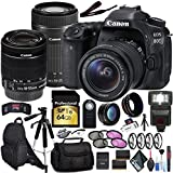 Canon EOS 80D DSLR Camera (Body Only) EF-S 55-250mm Lens Bundle International Model