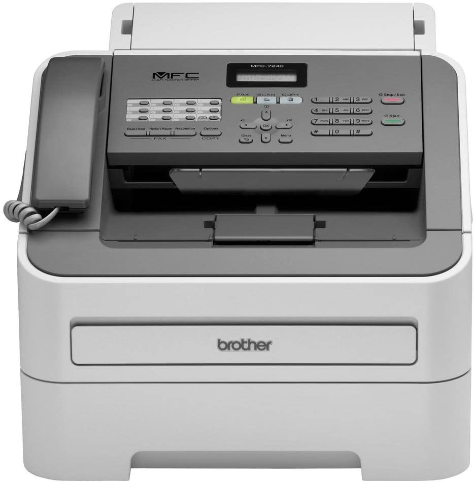 Brother Printer MFC7240 Monochrome Printer with Scanner, Copier and Fax,Grey
