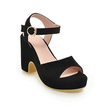 Mujeres Moda Tacones Altos Verano Sandalias Plataforma Impermeable  Zapatillas Zapatos Casuales Plataforma Impermeable Talla Grande Sandalias 14fb9057b23a