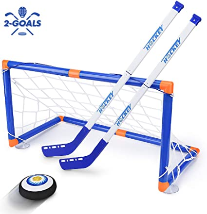 Amazon Com Kids Toys Led Hockey Hover Set 2 Goals Mini Screwdriver Air Power Training Ball Playing Hockey Game Hockey Toys 3 4 5 6 7 8 9 10 11 12 Year Old Boys Girls Best Gift Toys Games