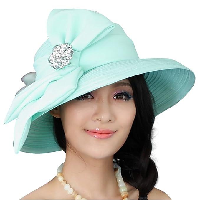 Junio de jóvenes mujeres sombreros para Iglesia Tea Party Moda Sombreros 2  colores - Azul -   Amazon.es  Ropa y accesorios df144ea3ca4