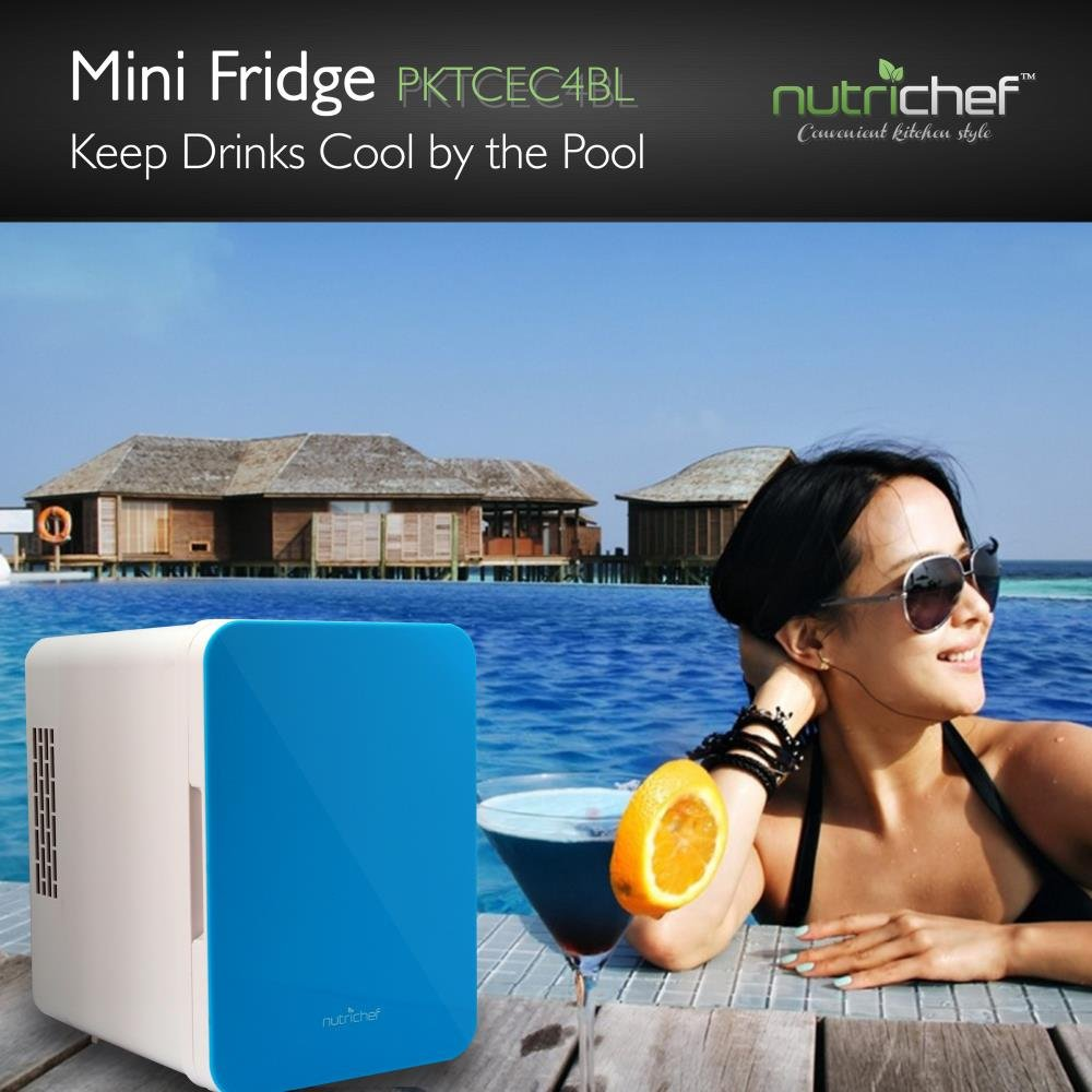 NutriChef Portable Mini Fridge - Personal Compact Electric Cooler and Warmer Box with 4 Liter / 6 can Storage, Includes 110V & 12V AC/DC Power for Home, Office, Car, RV & Boat by NutriChef (Image #6)