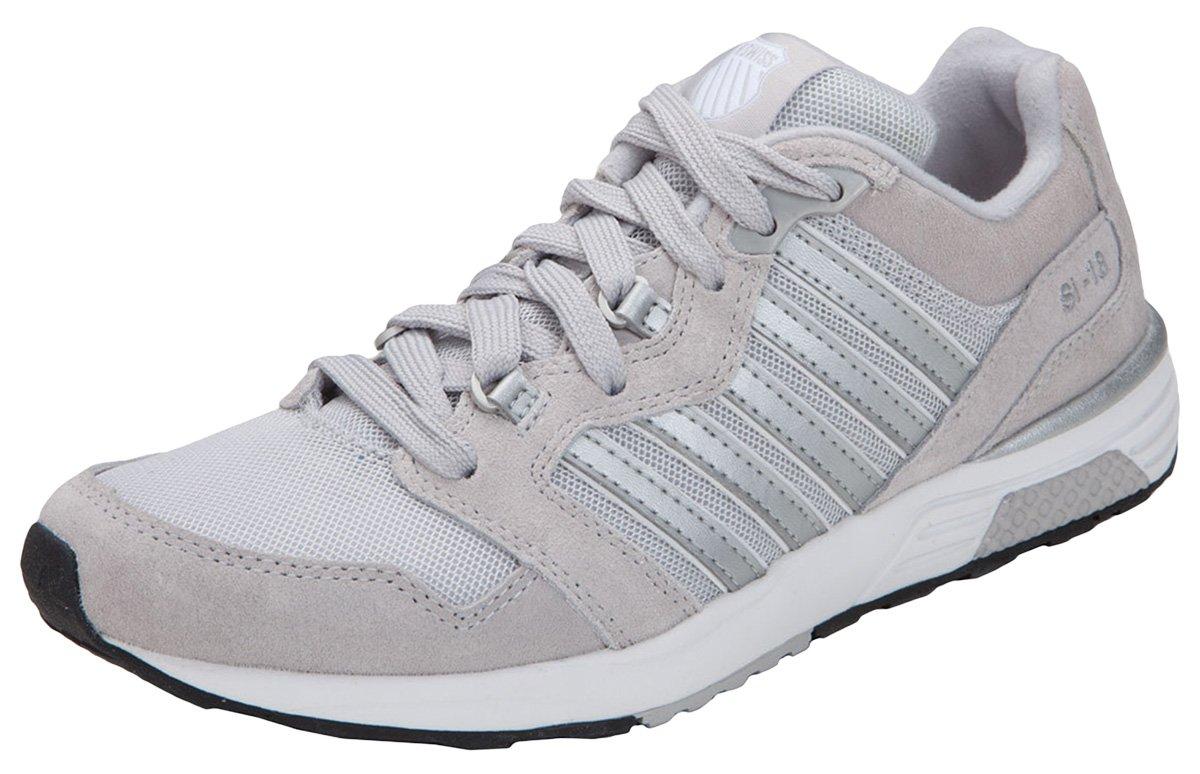 K-Swiss Women's Suede Mesh Rannell Athletic Sneaker_Grey_7H,RANNELL2