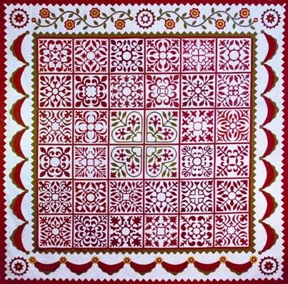 Sarah's Revival Applique BOM Quakertown Sue Garmen Complete 12 Pattern Set (Sarah Album)