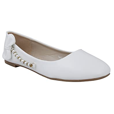 1f67c9d4efe QOO10 White Ballerinas  Buy Online at Low Prices in India - Amazon.in