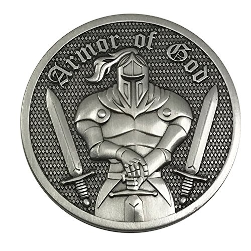Antique Coin (Premium Armor of God - Ephesians 6:11 - 3D Challenge Coin with Antique Silver finish)