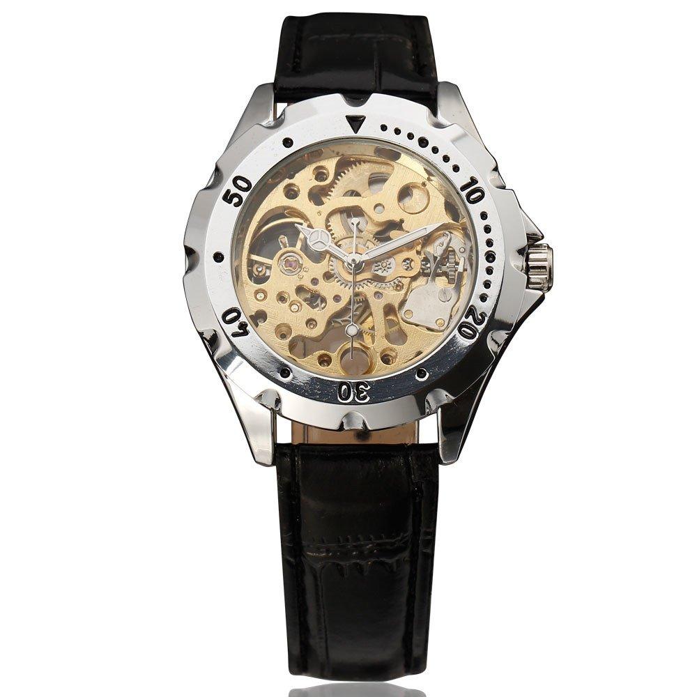 Winnerメンズ腕時計ファッションビジネスhand-windingアナログDressステンレススチールWatch 1# B071JQGXSS1#