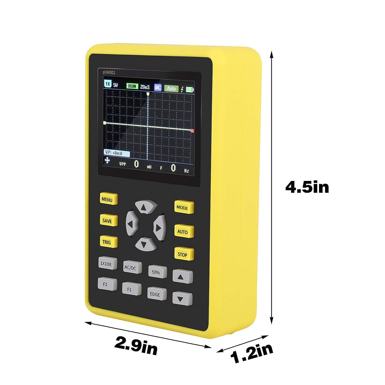frecuencia de muestreo de 500 MS//s 110 MHz Osciloscopio digital port/átil IPS KKTECT Osciloscopio port/átil Micro osciloscopio digital port/átil IPS port/átil de mano de 2,4 pulgadas 5012H