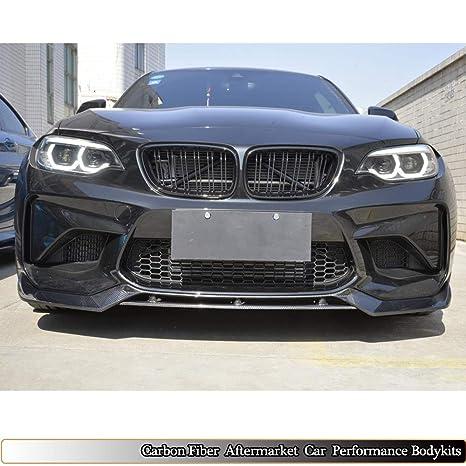 MCARCAR KIT F87 M2 Base para BMW Serie 2 Coupe 2016 2017 Fibra de Carbono Parachoques Delantero Labio: Amazon.es: Coche y moto