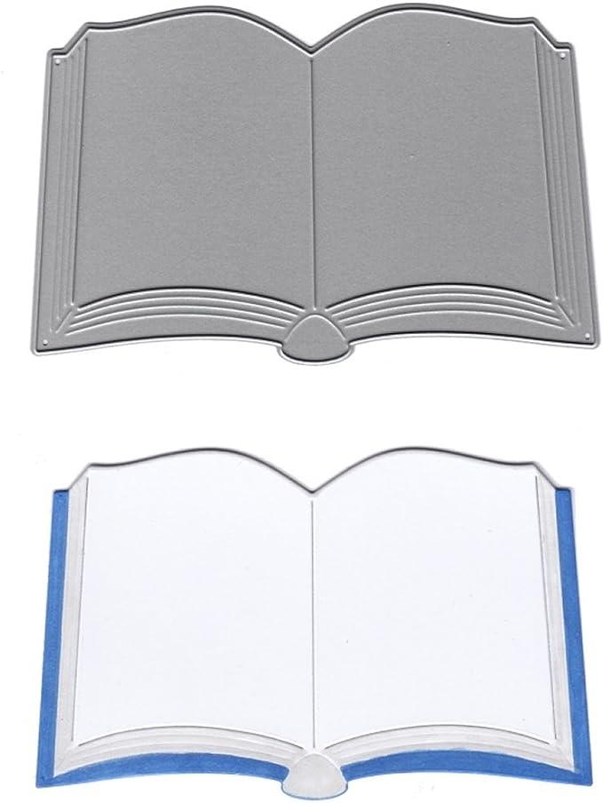 Plantilla de corte con forma de libro abierto, de