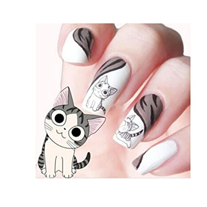 Giveme5 3D Transfer Style Cute Cat Nail Art Stickers Manicure Nail Polish  Decal 2 Sheets - Giveme5 3D Transfer Style Cute Cat Nail Art Stickers Manicure Nail