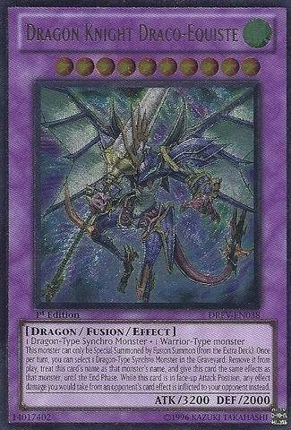 (Yu-Gi-Oh! - Dragon Knight Draco-Equiste (DREV-EN038) - Duelist Revolution - 1st Edition - Ultimate Rare by Yu-Gi-Oh!)