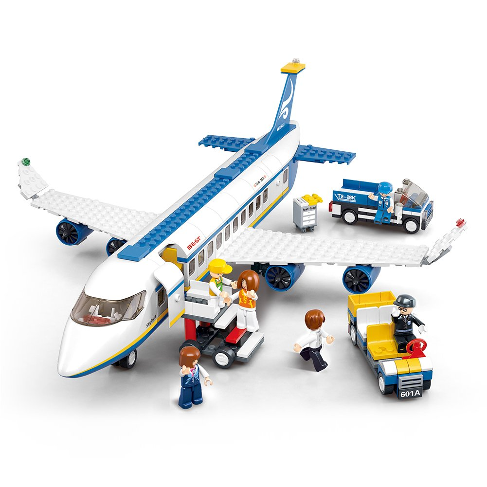 Amazon Sluban Building Block Plane City Airport Cargo Terminal