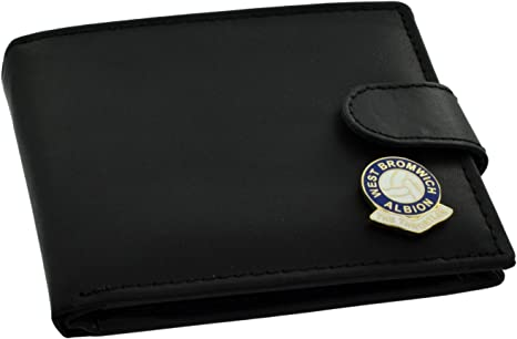 West Bromwich Albion FC 'The Throstles' Football Club Genuine Black Leather Wallet