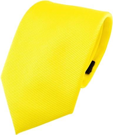 TigerTie - Corbata - amarillo en flor amarilla amarillo neón ...