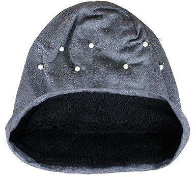 Luxus Damen Nieten Sterne Beanie Mütze sehr leicht Top Qualität Long Uni Slouch