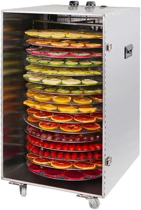 Opinión sobre L.TSA Deshidratador de Alimentos Máquina deshidratadora de Alimentos Grandes Bandeja de Acero Inoxidable de 16 Capas de Grado Comercial Función de rotación automática con Molino de Alimentos