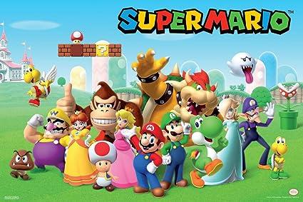 Pyramid America Super Mario Bros 3D Group Shot Nintendo Poster 12x18 Inch