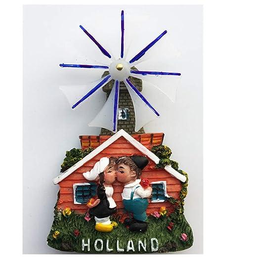 Exquisito molino de viento de los Países Bajos 3d imán de nevera ...