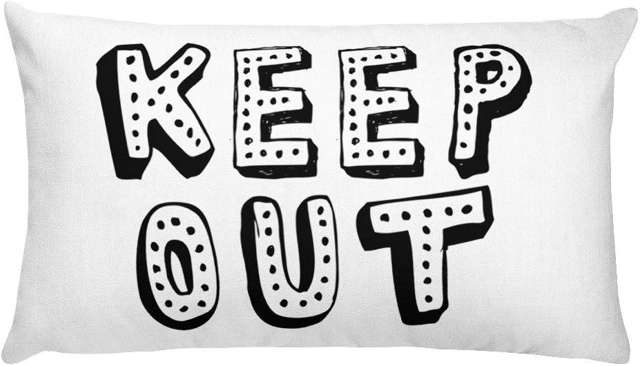 MazyMagoo Teen Room Furniture   Kids Room Pillow   Keep Out   Stay Out   Housewarning Gift   Teen Gift   Throw Pillow   Toss Pillow   Teen Decor l Do