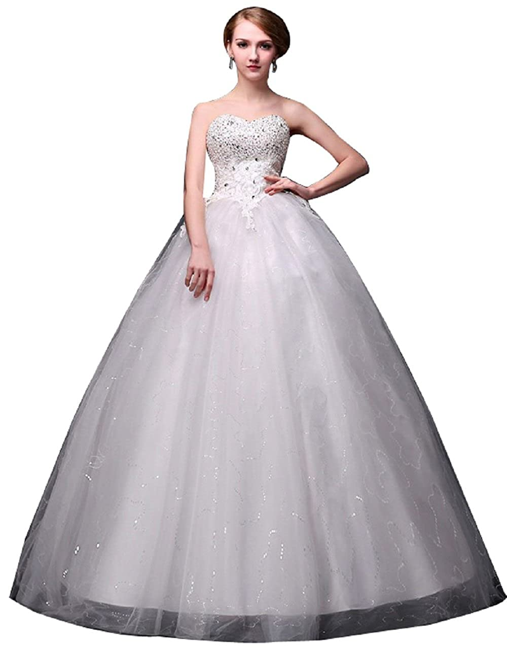 Jj Gogo Womens Strapless Ball Gown Style Wedding Dress With Lace Up