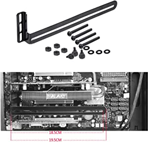 SiyuXinyi PCI Slot Fan Bracket,Video Card Holder,GPU VGA Bracket for Custom Desktop PC Gaming,Compatible to RTX Vertical Cooling Rack Mount Holder Supports 80mm 90mm 120mm 140mm Fans