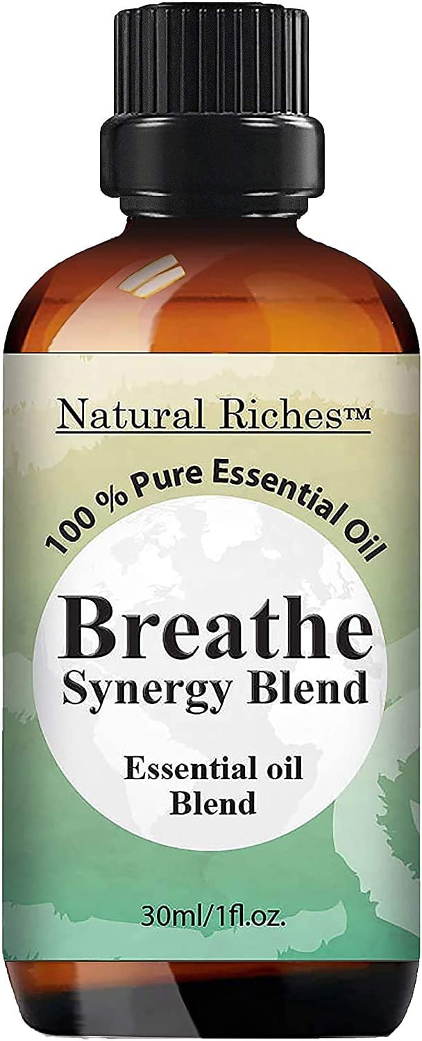 Natural Riches Breathe Essential Oil Blend - Peppermint Eucalyptus - 30 ml
