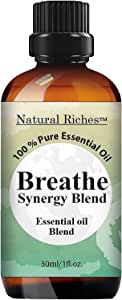 Natural Riches Breathe Essential Oil Blend - Peppermint Eucalyptus - 30 ml