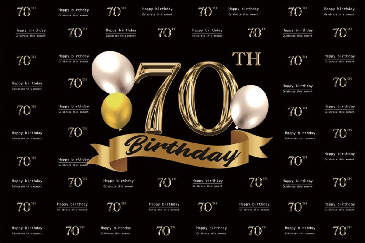 YEELE Fabulous 70th Birthday Backdrop 10x8ft Step and Repeat Banner Seventy Years Old Photography Background Grandma Papa Mom Portrait Photos Party Table Decoration Photobooth Props Digital Wallpaper
