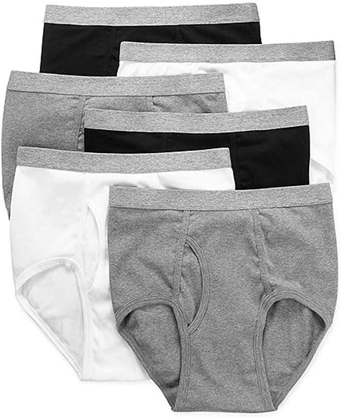 Stafford 6 Pack 100/% Cotton Full-Cut Briefs White