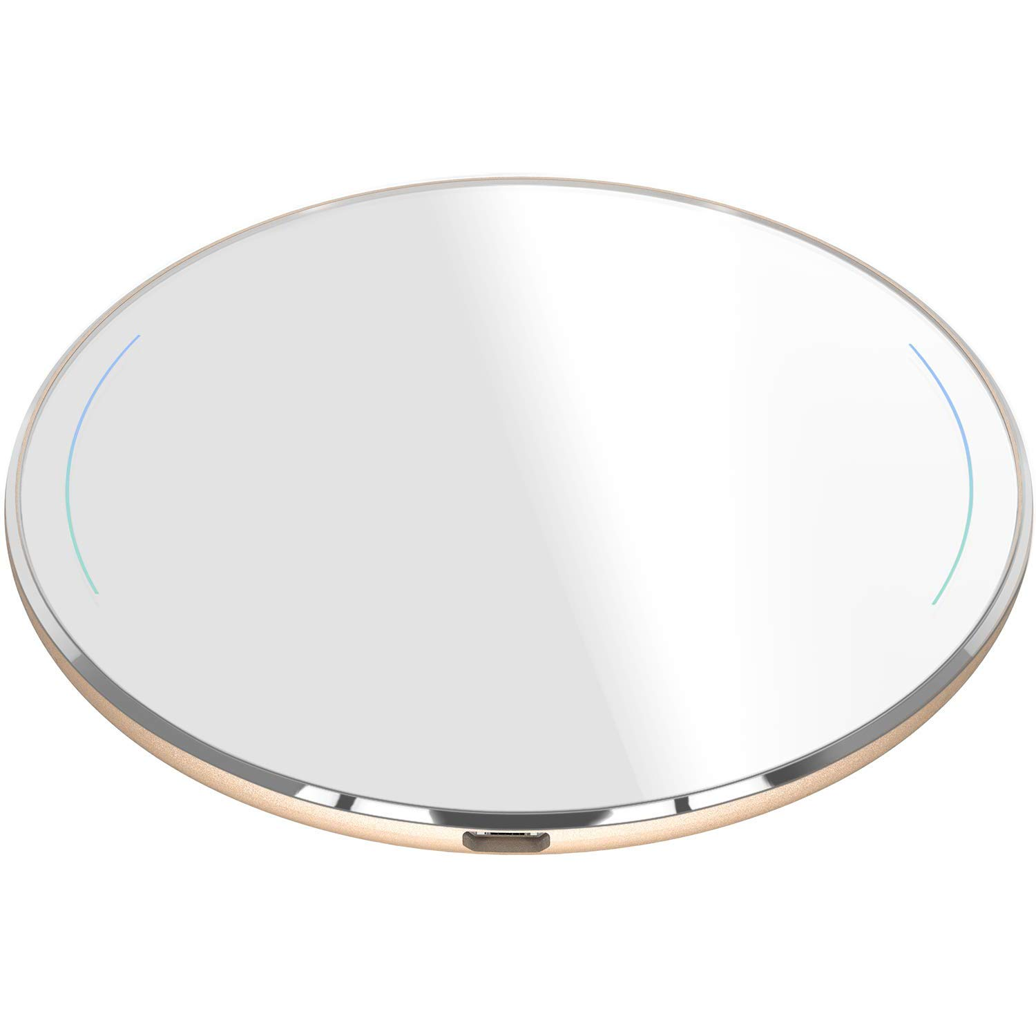 TOZO Wireless Charger Ultra Thin Aviation Aluminum FastCharging Pad for iPhone 11/11 Pro/11 Pro Max/XS MAX/XR/XS/X/8, Galaxy S10/S10 Plus/S10E/Note 10/Note 10 Plus/9/8 [Gold]-NO AC Adapter