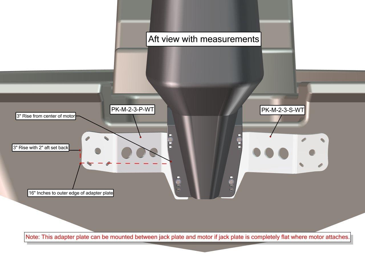 Adapter Plate Kit M-2-3 WHITE