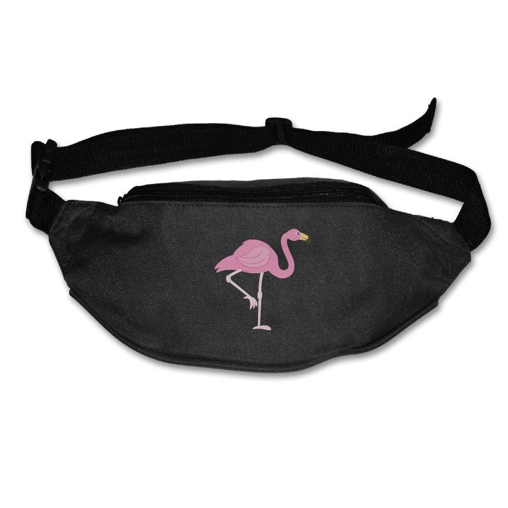 Waist Purse Pink Flamingo Lovers Unisex Outdoor Sports Pouch Fitness Runners Waist Bags