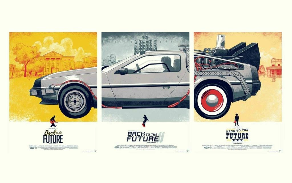 twenty-three Cars Movies Back To The Future Deloreanファブリックキャンバスポスタープリント24 x 36inch B01CNKPN9W