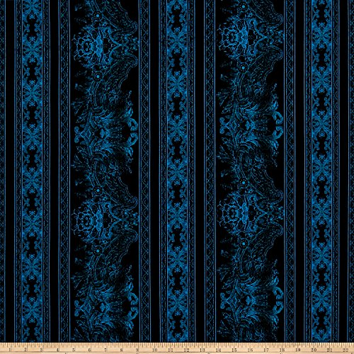 Jinny Beyer Burano Lace Border Blue Fabric By The Yard