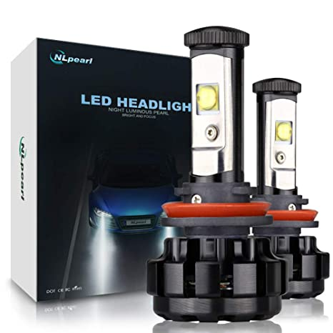 Amazon.com: NLpearl H9 H8 H11 Led Headlight Bulb Conversion Kit with Cree Chips, 6000k Cool White 12v 60w 7000lm Pair Fog Light Blubs, 3 Yr Warranty: ...