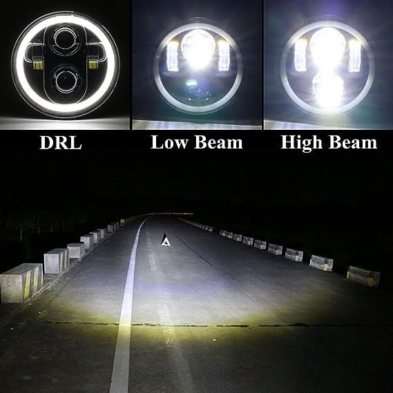 5.75 Faros delanteros Angel Eye Halley para Harley Davidson Daymaker lente del proyector LED: Amazon.es: Coche y moto