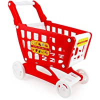 Boley Mart Red Shopping Cart - Grocery Shopping Pretend Play Baby Shopping Cart Toy for Toddlers - Some Assembly…