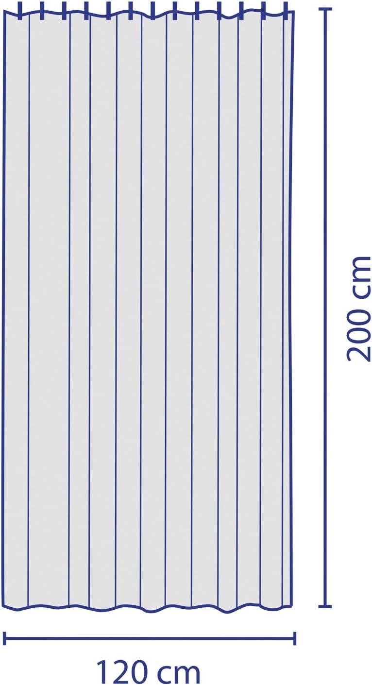 Polyester kela Laguna Rideau de Douche 120x200cm Blanc