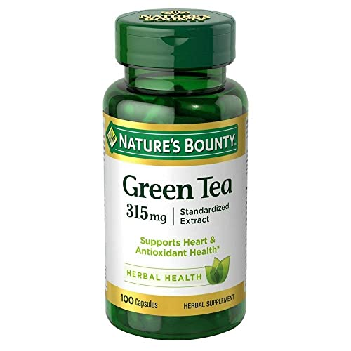 Nature s Bounty Green Tea Extract 315 mg Capsules 100 ea Pack of 3