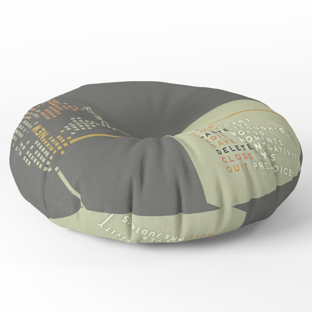 Society6 New Technology Commands Floor Pillow Round 30'' x 30''