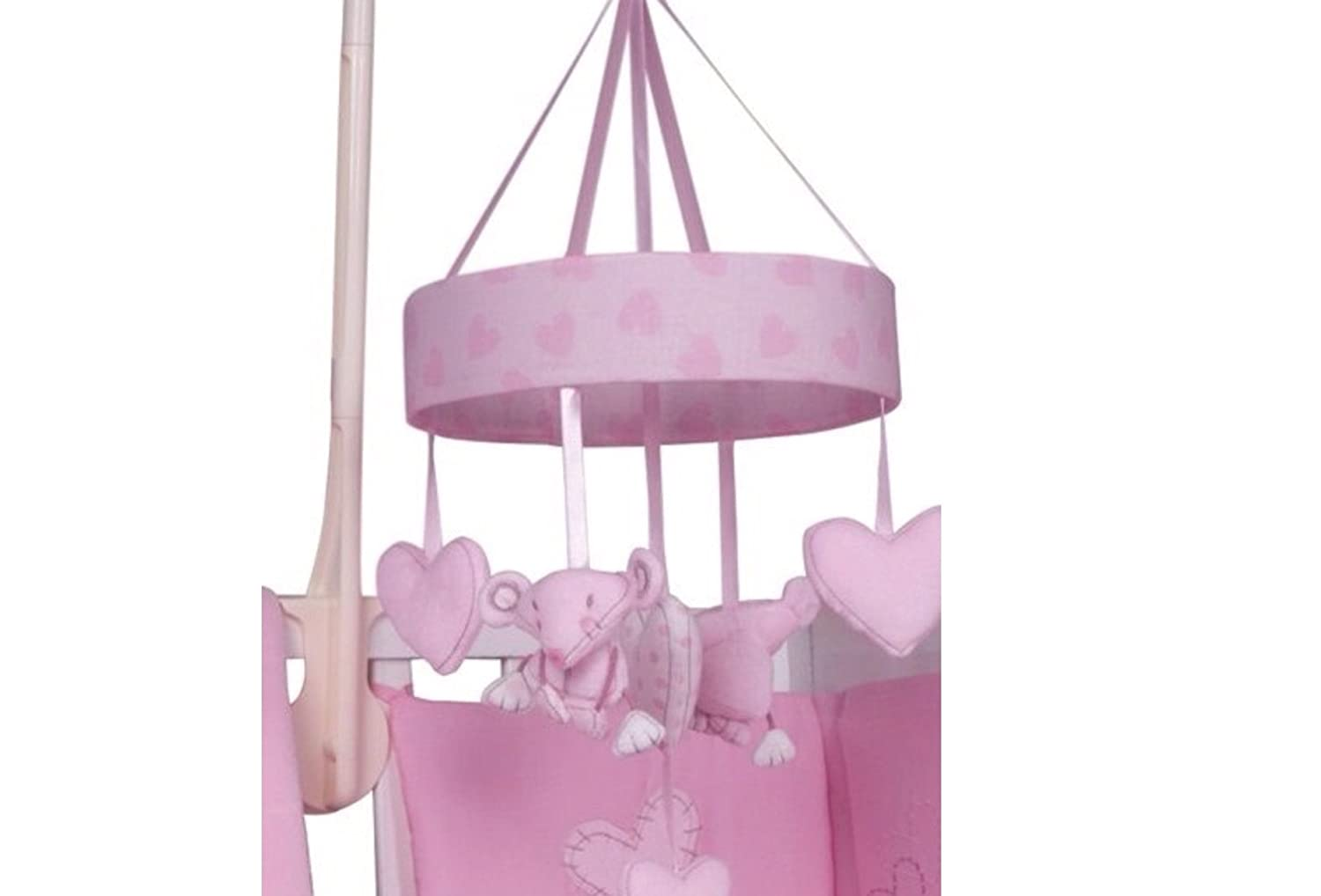 Musical Mobile Pink Heart Cot Musical Mobile My Little World