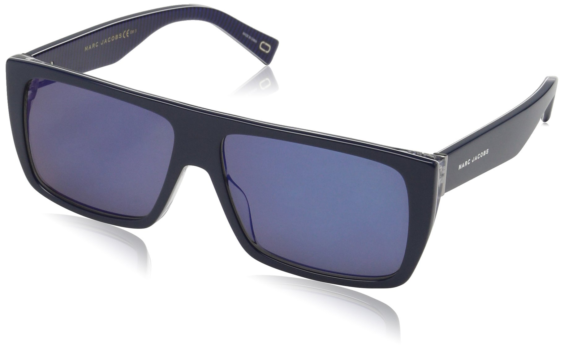 Marc Jacobs Marc096s Rectangular Sunglasses, Strip Blu, 57 mm