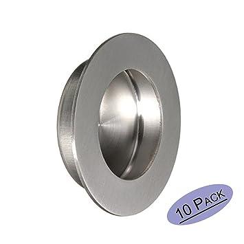 Embellecedor redondo para puerta corredera con tornillos ocultos, 50 mm x 65 mm, acero inoxidable satinado, de Goldenwarm: Amazon.es: Bricolaje y ...