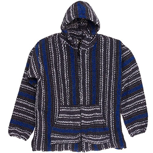 Baja-Joe-Striped-Woven-Eco-Friendly-Jacket-Coat-Hoodie-Teal