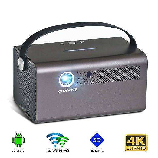 NCBH Mini proyector, proyector portátil 4K de resolución HD y ...