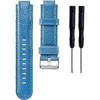 Meiruo Bande de Rechange Bracelet en Cuir pour Garmin Forerunner 220/235 /630/620 /735 Montre de Running GPS