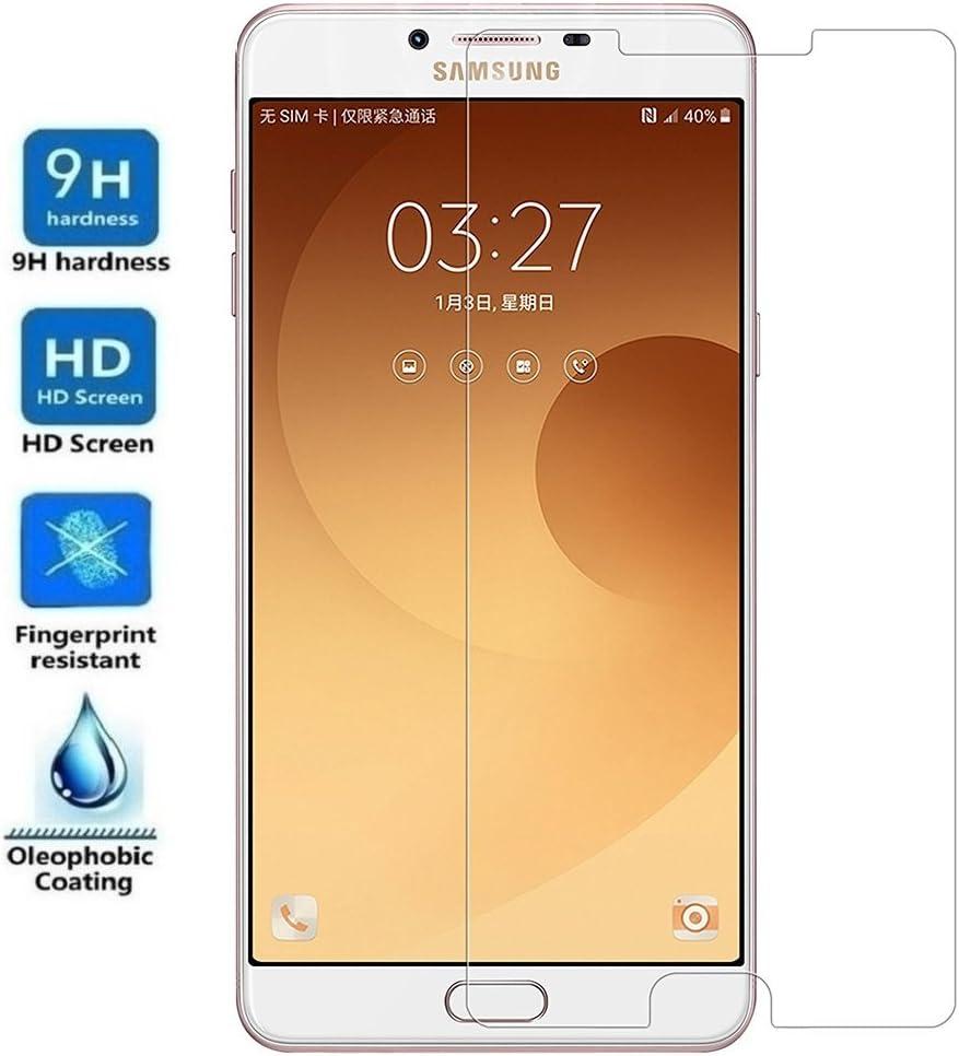 REY Protector de Pantalla para Samsung Galaxy C9 / C9 Pro, Cristal Vidrio Templado Premium: Amazon.es: Electrónica