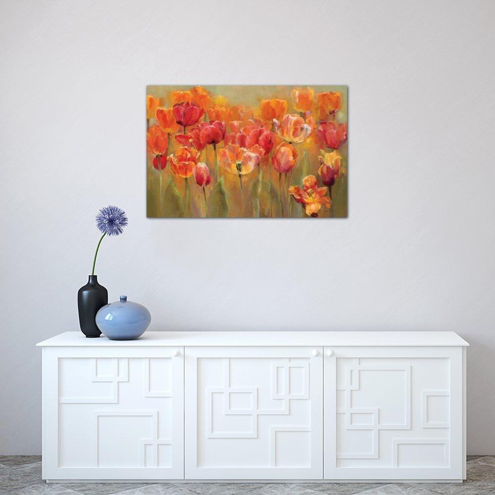 60 X 40 0 75 Deep Icanvasart 3 Piece Tulips In The Midst Iii Canvas Print By Marilyn Hageman Home Kitchen Wall Art